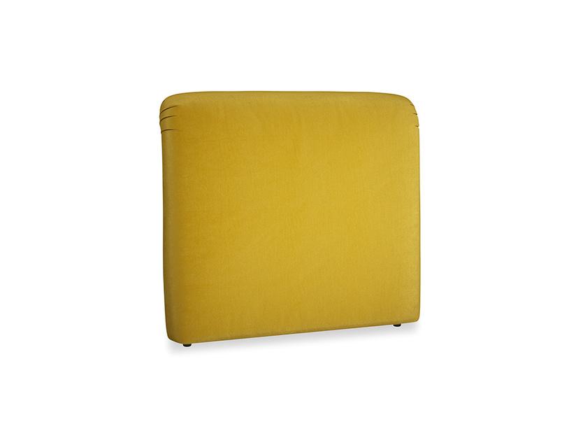 Double Cookie Headboard in Burnt yellow vintage velvet