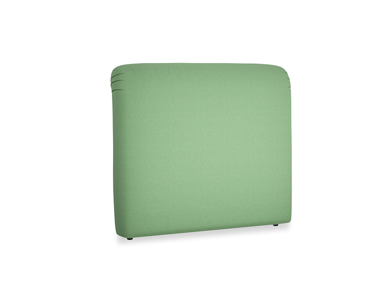 Double Cookie Headboard in Clean green Brushed Cotton