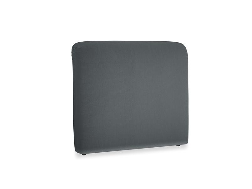 Double Cookie Headboard in Dark grey Clever Deep Velvet