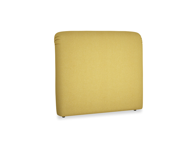 Double Cookie Headboard in Easy Yellow Clever Woolly Fabric