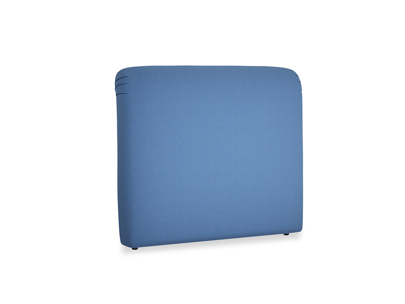 Double Cookie Headboard in English blue Brushed Cotton