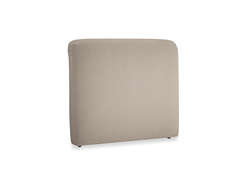 Double Cookie Headboard in Fawn clever velvet