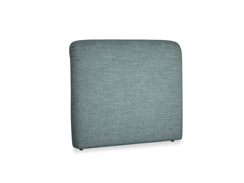 Double Cookie Headboard in Anchor Grey Clever Laundered Linen
