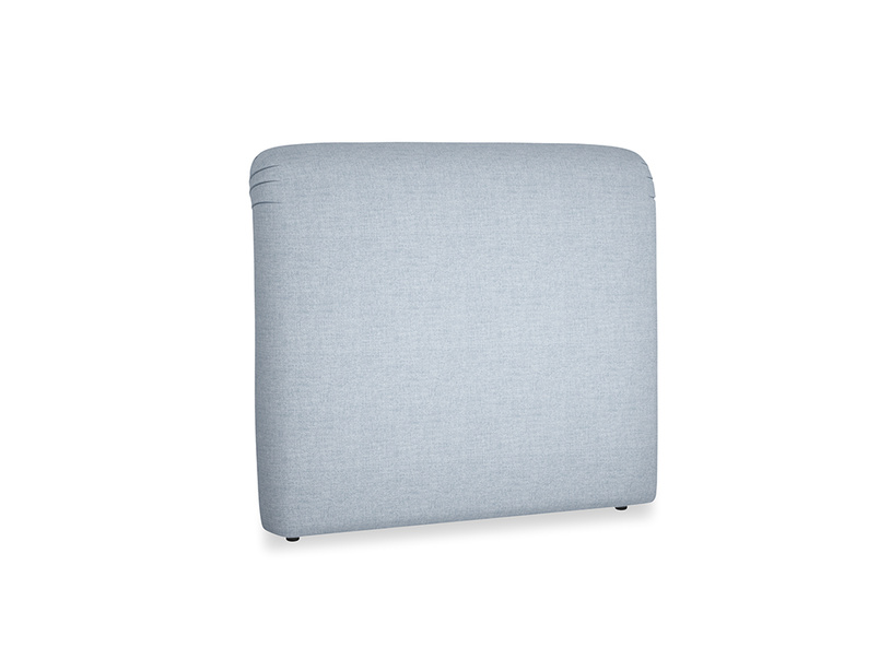 Double Cookie Headboard in Frost clever woolly fabric