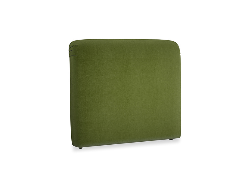 Double Cookie Headboard in Good green Clever Deep Velvet