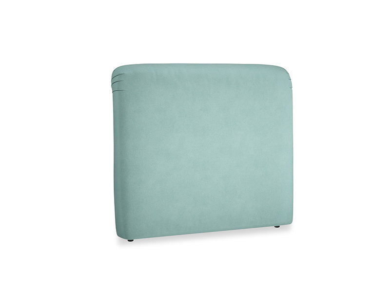 Double Cookie Headboard in Greeny Blue Clever Deep Velvet