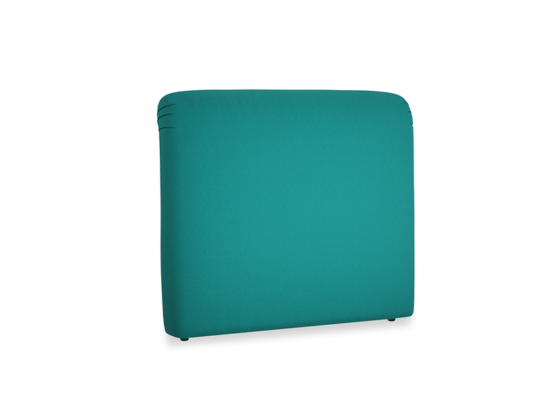 Double Cookie Headboard in Indian green Brushed Cotton