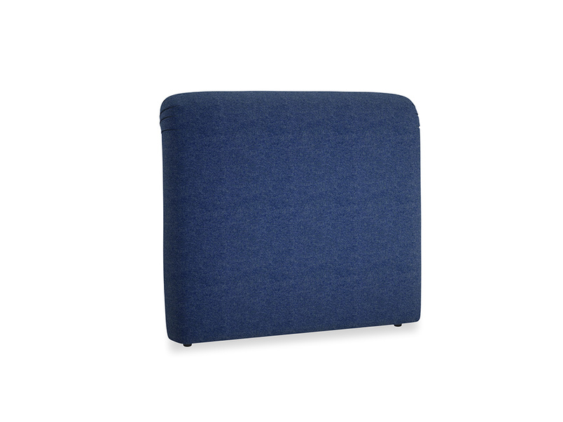Double Cookie Headboard in Ink Blue wool