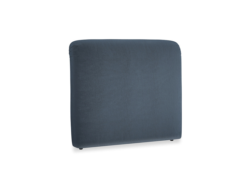Double Cookie Headboard in Liquorice Blue clever velvet