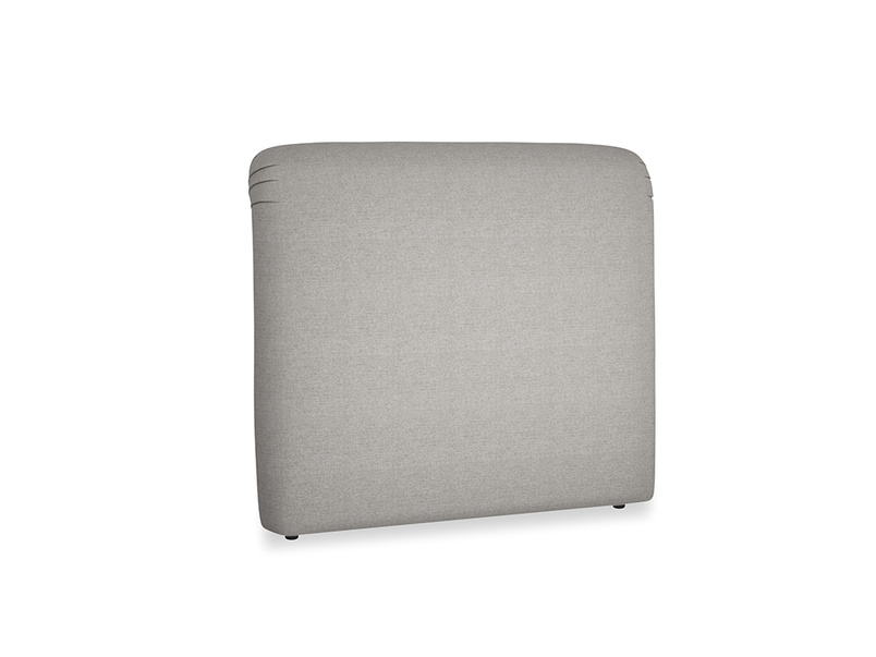 Double Cookie Headboard in Marl grey clever woolly fabric