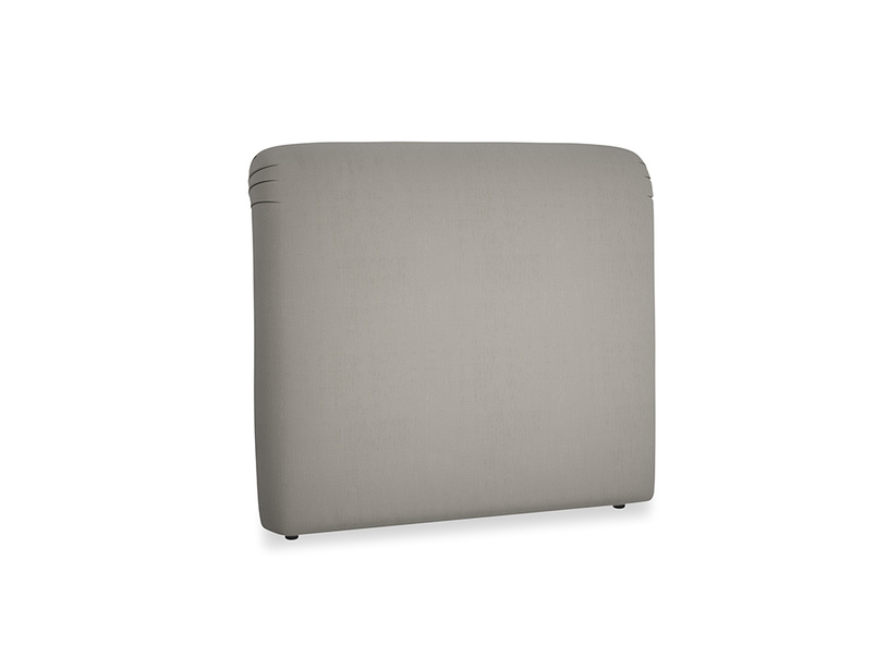 Double Cookie Headboard in Monsoon grey clever cotton