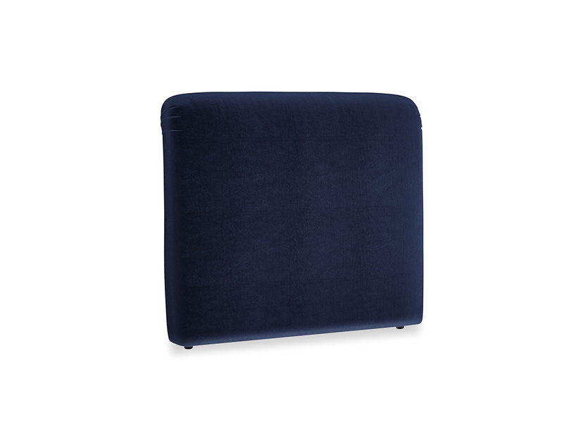 Double Cookie Headboard in Goodnight blue Clever Deep Velvet