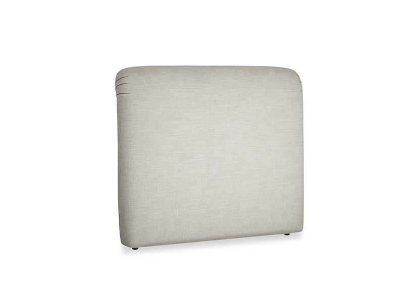 Double Cookie Headboard in Grey Daybreak Clever Laundered Linen