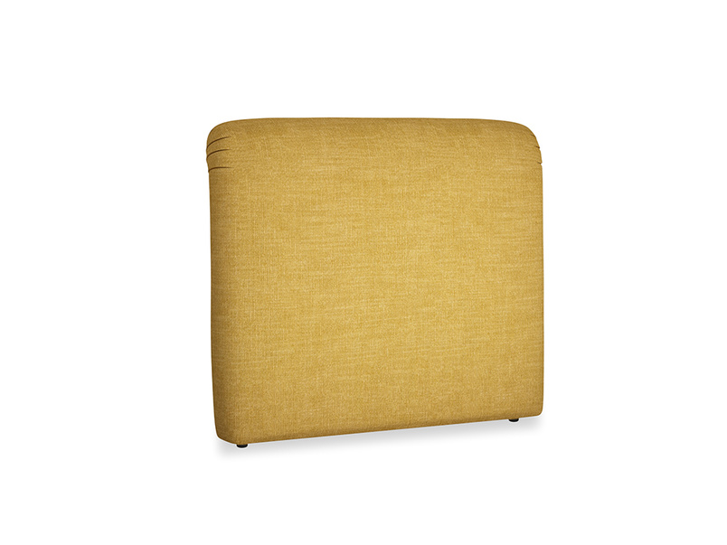 Double Cookie Headboard in Mellow Yellow Clever Laundered Linen