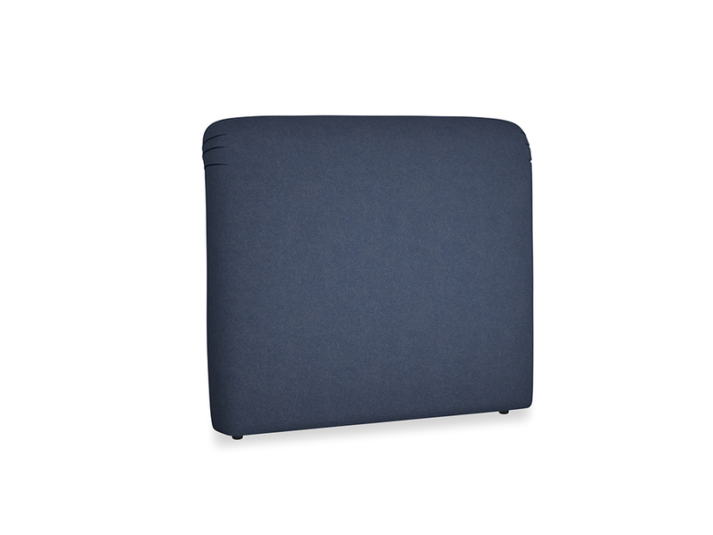 Double Cookie Headboard in Night Owl Blue Clever Woolly Fabric