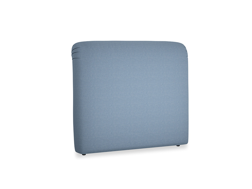 Double Cookie Headboard in Nordic blue brushed cotton