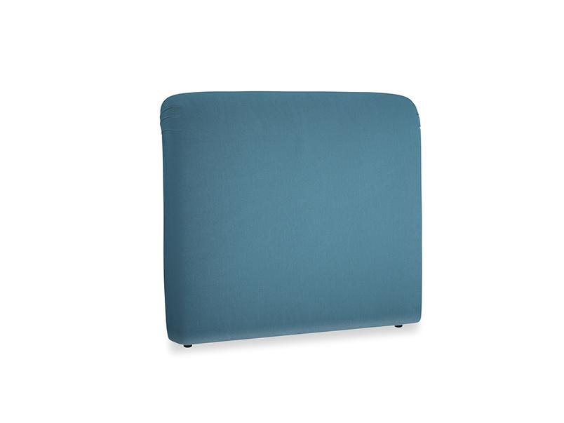 Double Cookie Headboard in Old blue Clever Deep Velvet