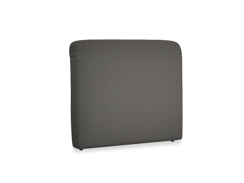 Double Cookie Headboard in Old Charcoal brushed cotton