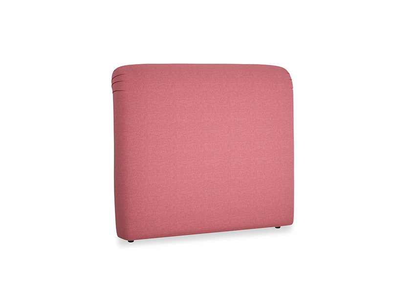 Double Cookie Headboard in Raspberry brushed cotton