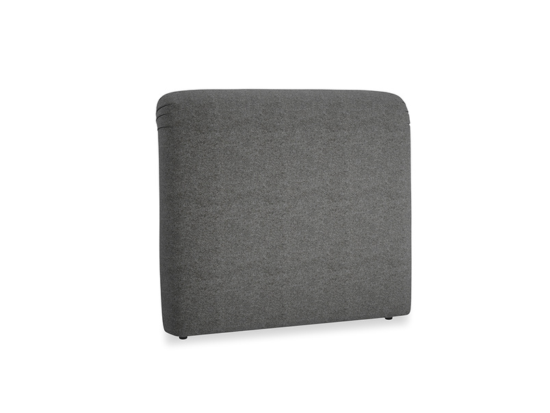 Double Cookie Headboard in Shadow Grey wool