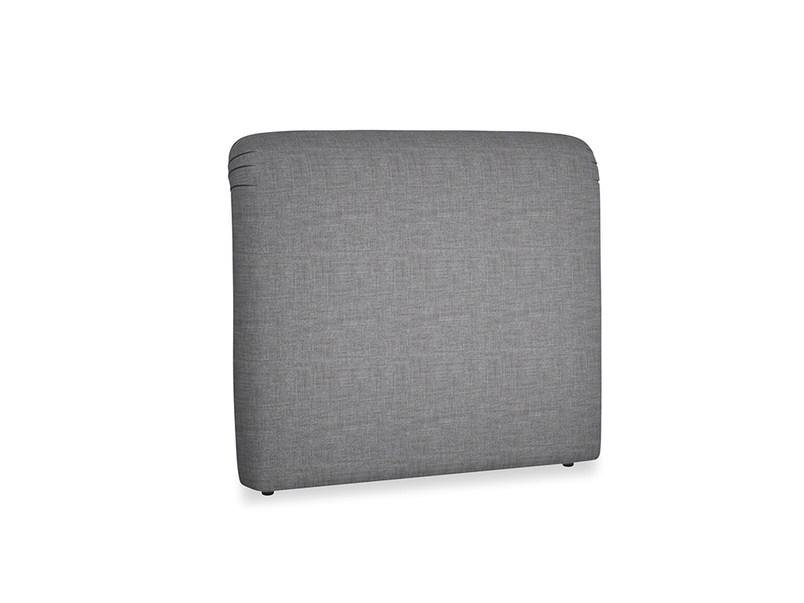 Double Cookie Headboard in Strong grey clever woolly fabric