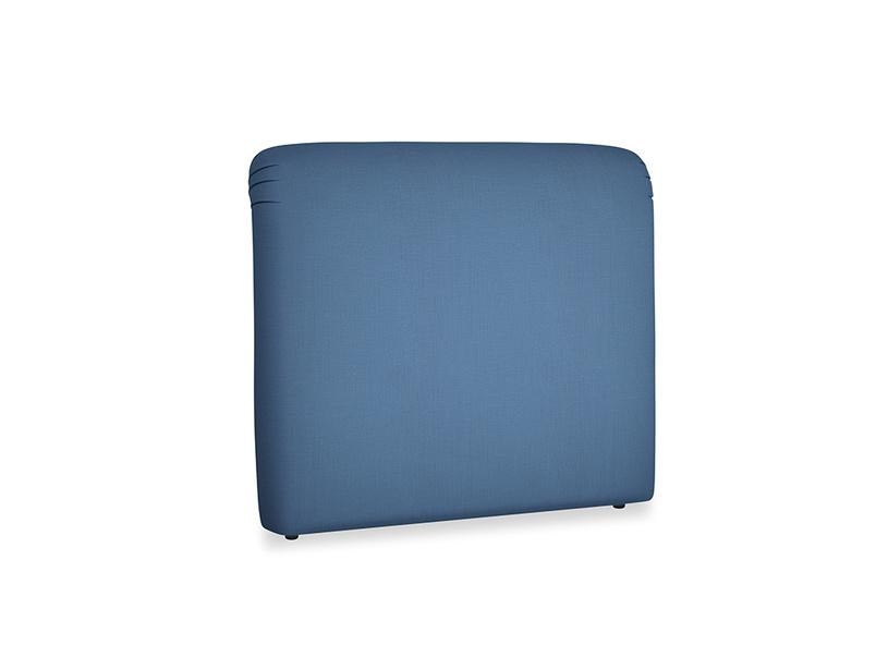 Double Cookie Headboard in True blue Clever Linen