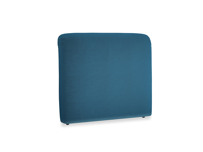 Double Cookie Headboard in Twilight blue Clever Deep Velvet