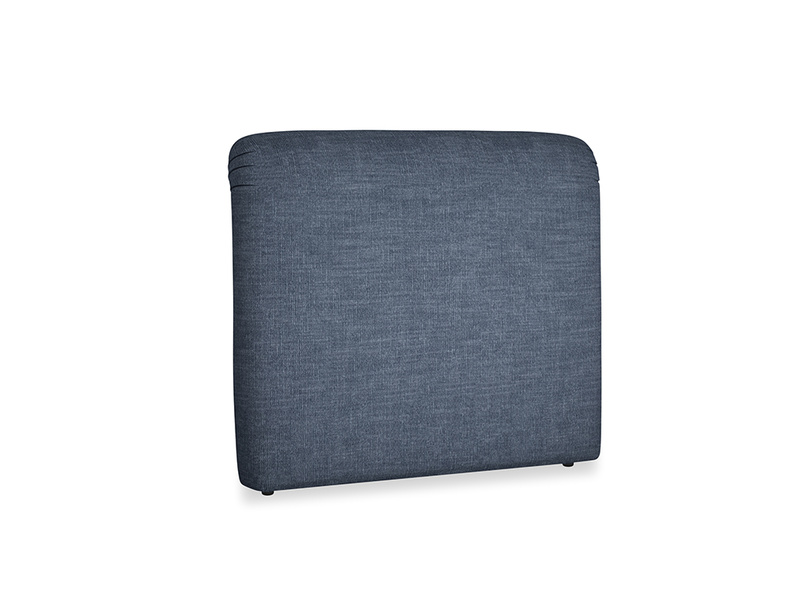 Double Cookie Headboard in Selvedge Blue Clever Laundered Linen