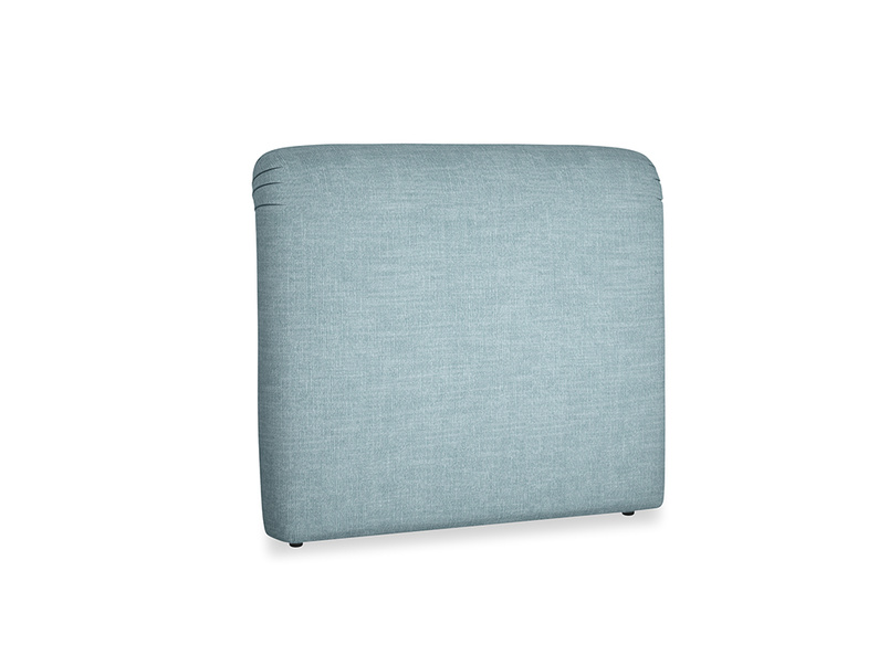 Double Cookie Headboard in Soft Blue Clever Laundered Linen