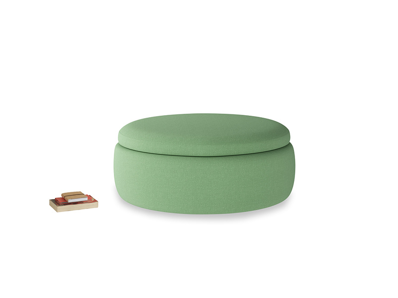 Pot Pie in Clean green Brushed Cotton