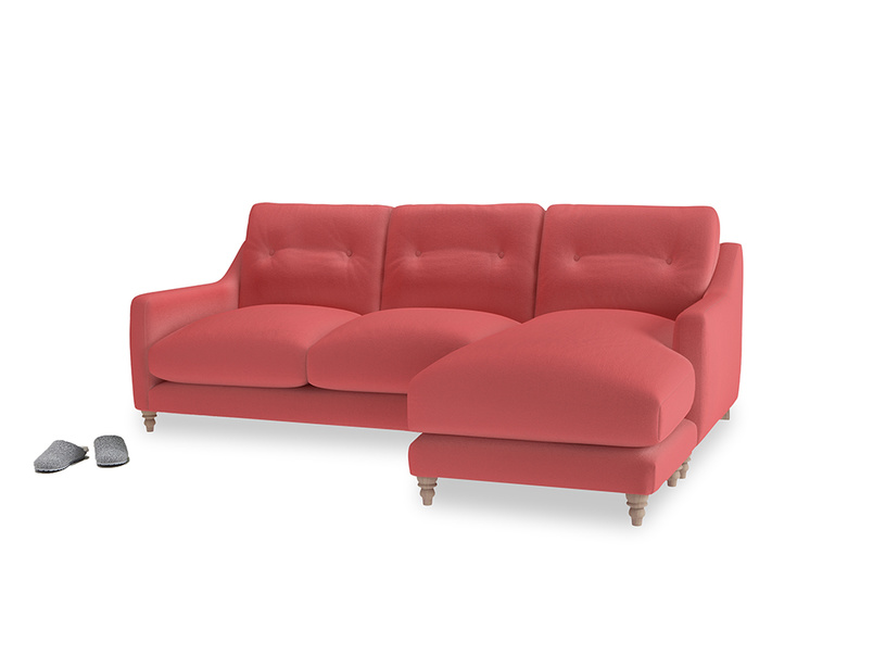 Large right hand Slim Jim Chaise Sofa in Carnival Clever Deep Velvet