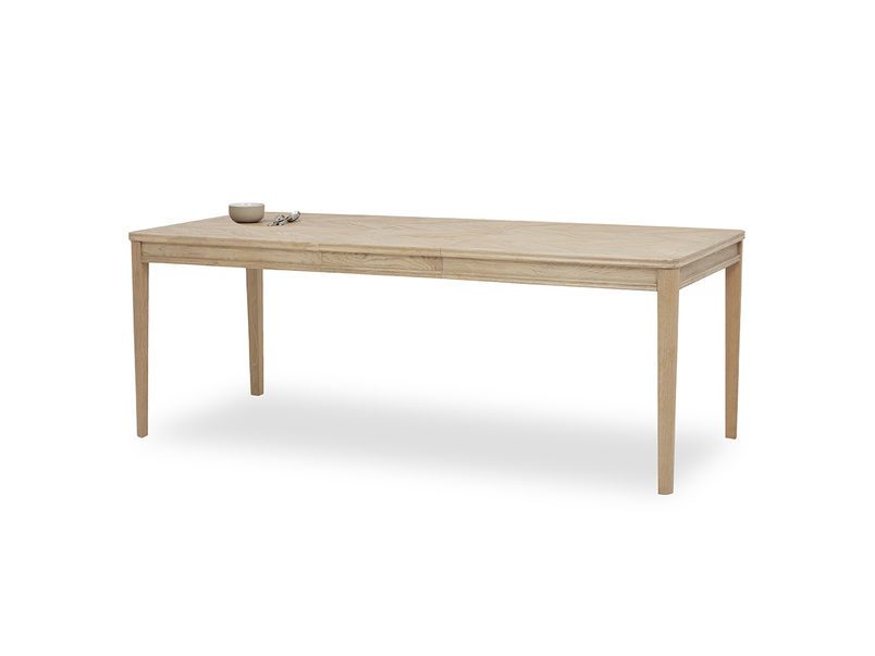 Jigsaw Oak Dining table extended angled