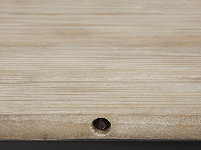 Hercule Industrial Corner TV Unit wooden