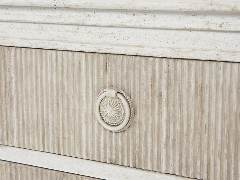 Tilda chest of drawers wooden drawer handle detail
