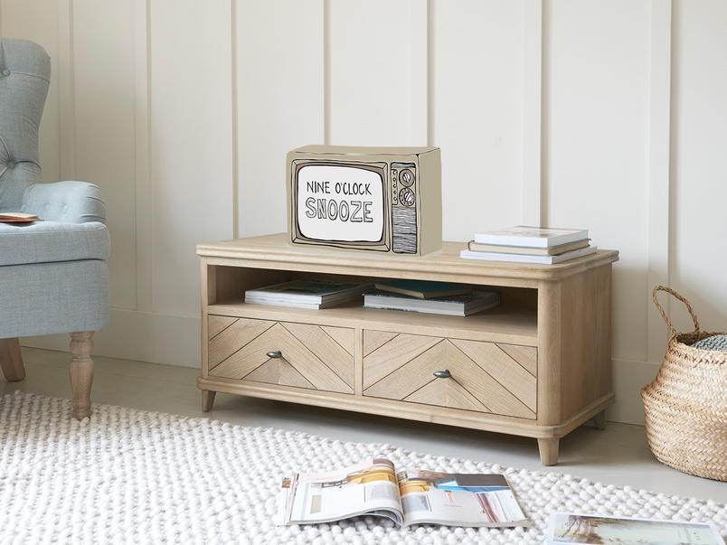 Telly Flapper Wooden TV Stand