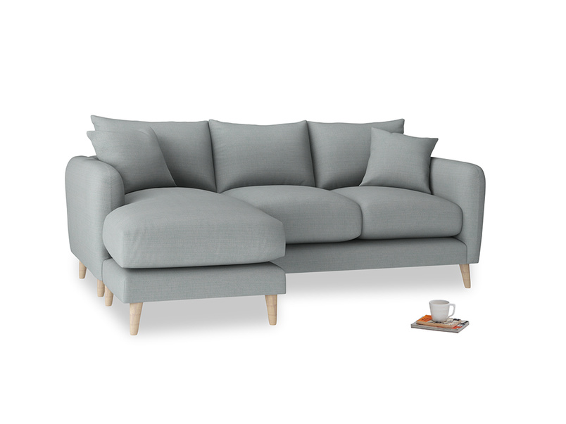 Large left hand Squishmeister Chaise Sofa in Armadillo Clever Softie