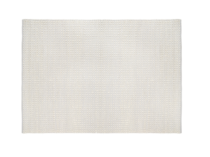 Bobble cream grey soft handmade floor rug