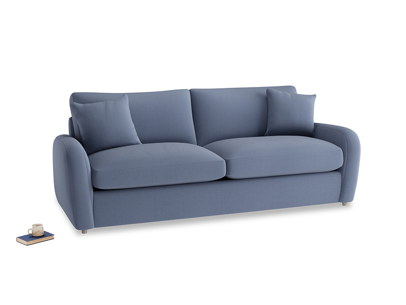 Large Easy Squeeze Sofa Bed in Breton blue clever cotton