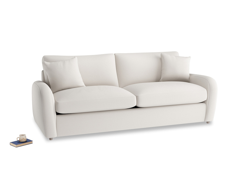 Large Easy Squeeze Sofa Bed in Chalk clever cotton