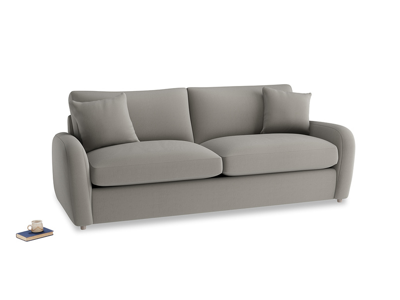 Large Easy Squeeze Sofa Bed in Monsoon grey clever cotton