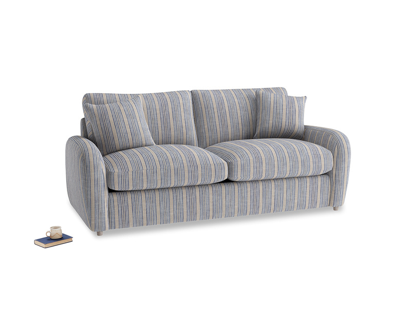 Medium Easy Squeeze Sofa Bed in Brittany Blue french stripe