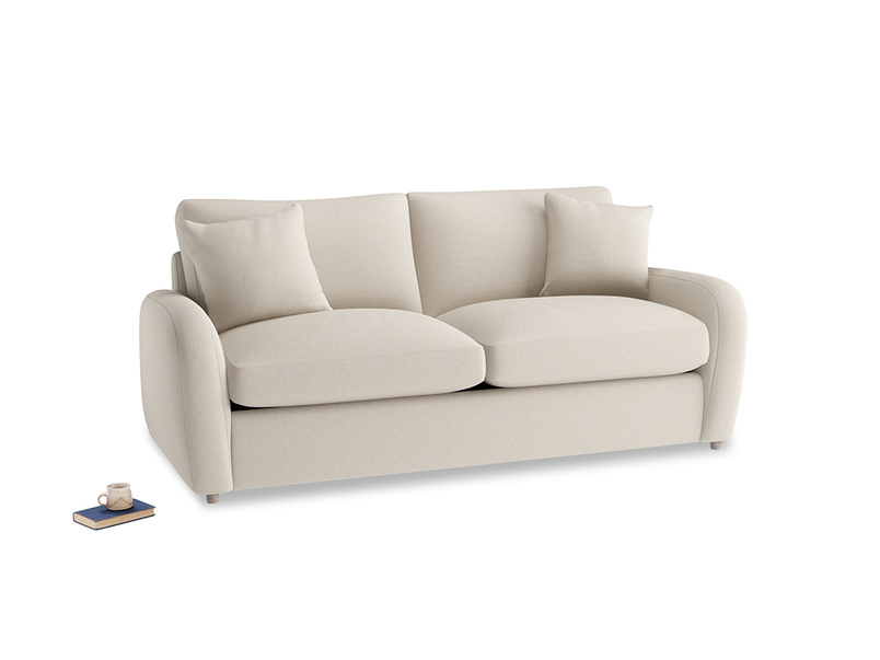 Medium Easy Squeeze Sofa Bed in Buff brushed cotton