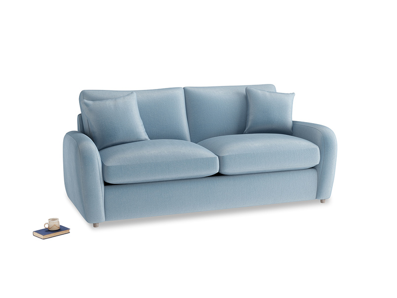 Medium Easy Squeeze Sofa Bed in Chalky blue vintage velvet
