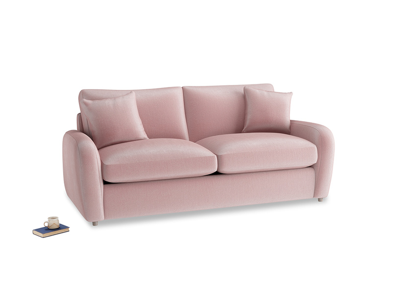 Medium Easy Squeeze Sofa Bed in Chalky Pink vintage velvet