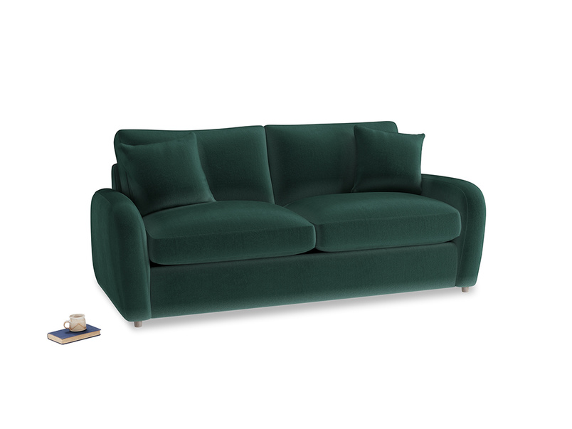 Medium Easy Squeeze Sofa Bed in Dark green Clever Velvet