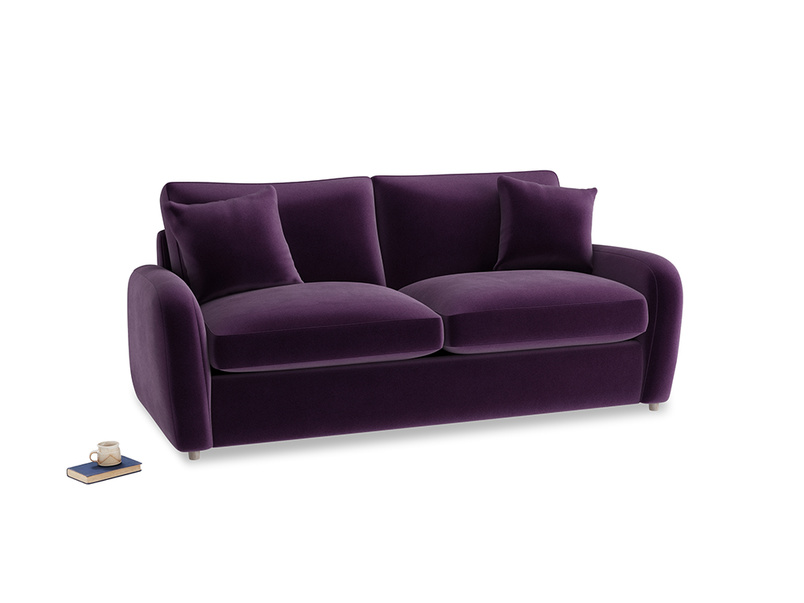 Medium Easy Squeeze Sofa Bed in Deep Purple Clever Deep Velvet