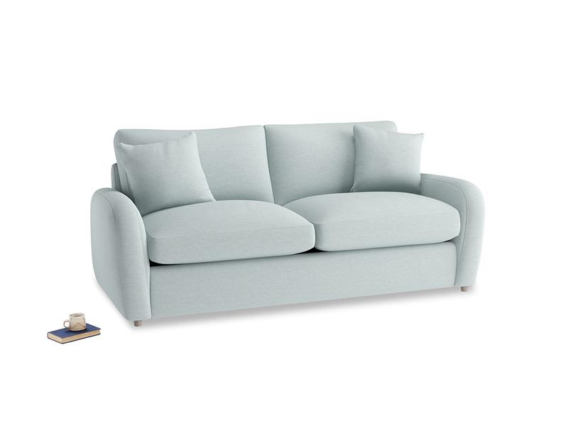 Medium Easy Squeeze Sofa Bed in Duck Egg vintage linen