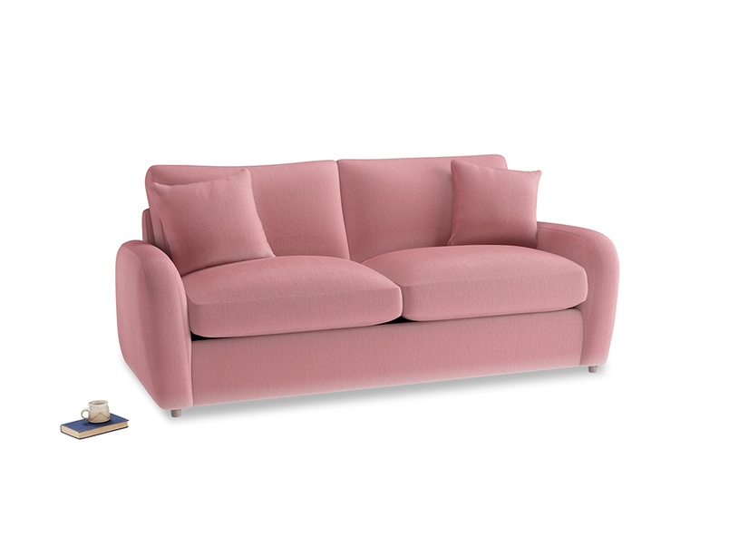 Medium Easy Squeeze Sofa Bed in Dusty Rose clever velvet