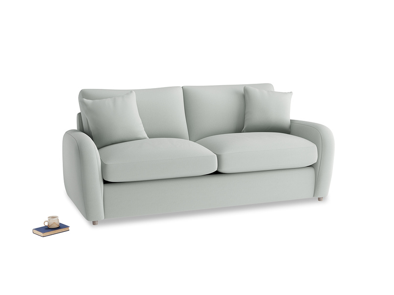 Medium Easy Squeeze Sofa Bed in Eggshell grey clever cotton