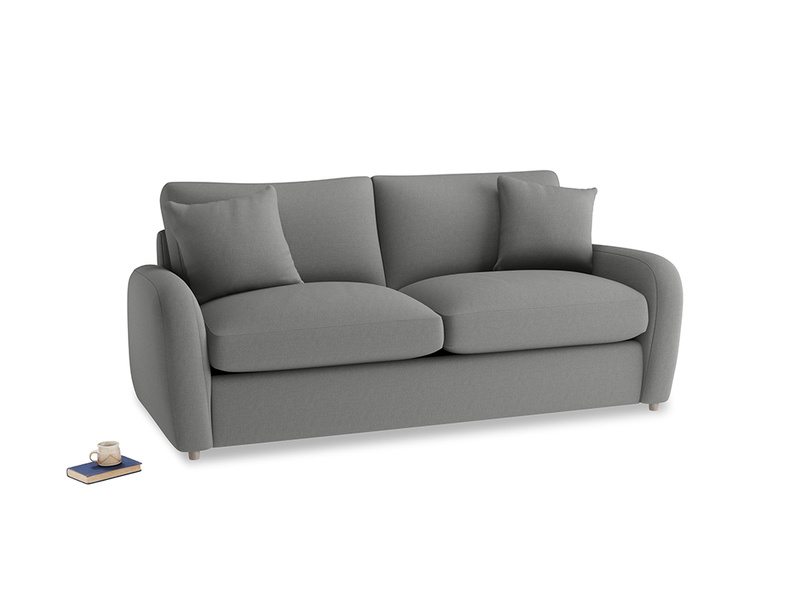 Medium Easy Squeeze Sofa Bed in French Grey brushed cotton